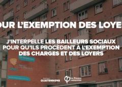 Interpellation des bailleurs sociaux de ma circonscription pour l'exemption des charges et loyers dans cette période difficile